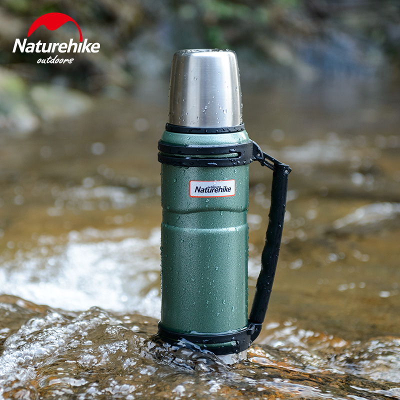 лучшая цена NatureHike 1.2L Outdoor Stainless Steel Double Layer Vacuum bottle Sports Bottles Camping Vacuum Flask Thermal Water Bottle