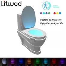 Led Battery Lighting Toilet Night-Lamp-Sensor 8-Color Emergency-Dry Motion-Bulbs Aaa