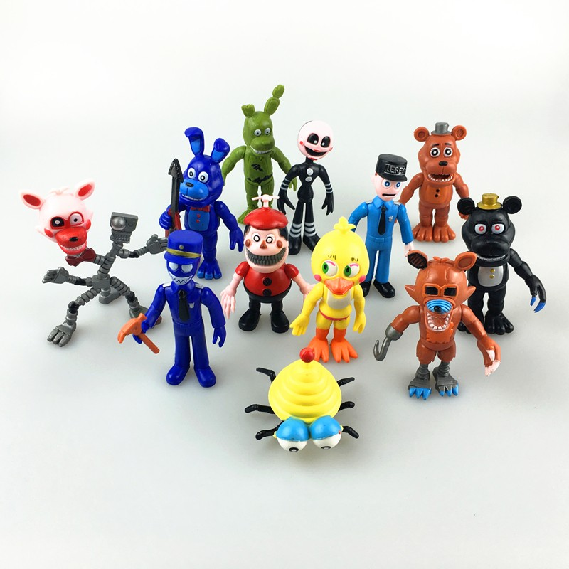Five Nights At Freddy's Action Figure Toys FNAF Chica Bonnie Foxy Freddy Fazbear Bear Anime Figures Freddy Toys 5/6/12PCS a Set