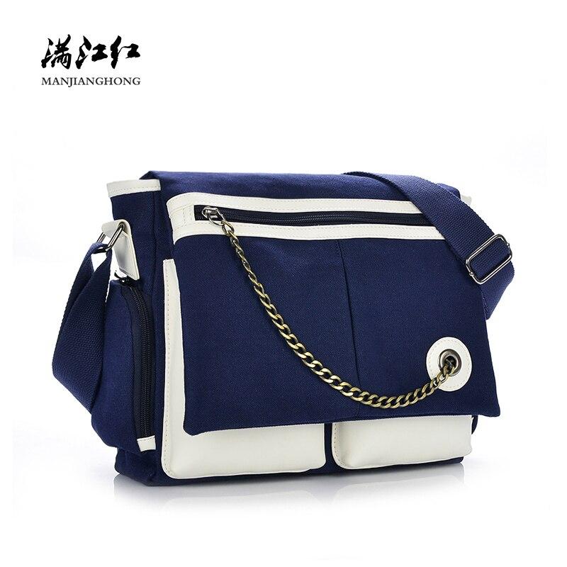 Fashion Canvas Men Messenger Bags Patchwork Leather Crossbody Shoulder Bags For Men Satchel Casual 13.3 Notebook Bag Laptop 1170 цена 2017