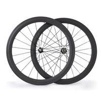 OEM Orders Carbon Road Wheels Clincher 50mm Depth 23mm Width For Carbon Road Bike V Brake