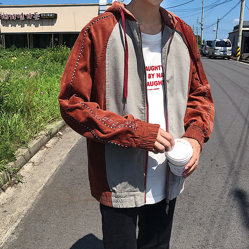 2018 Chun Weiyi Male The Wind In Embroidery Letter Leisure Time Even Hat Loose Coat Full Cotton Favourite Fashion Flash sale