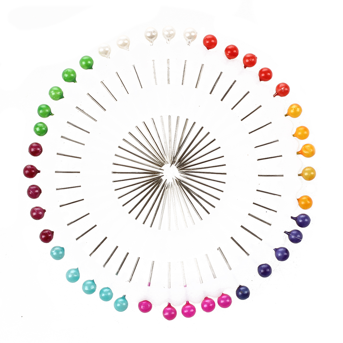 Craft Pin Wheel - 40 Pins - Ball Shaped Pin Heads. Sewing / Quilting Pins.