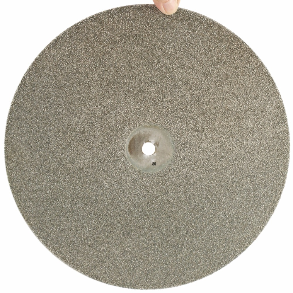 12 inch 300mm Grit 80 Diamond Grinding Disc Abrasive Wheel Coated Flat Lap Disk Coarse Lapidary Tools for Stone Glass Ceramics
