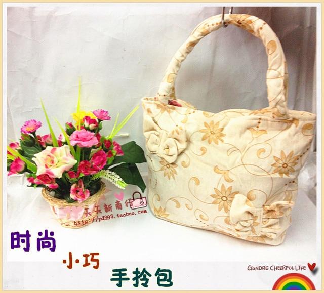 Canvas small handbag small handbag tote bag small bag cloth  MOQ>=10USD