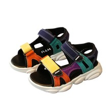Summer Kids Scandals Baby Boys Breathable Anti-Slip Shoes Boys Sandals Toddler Soft Soled Sneakers