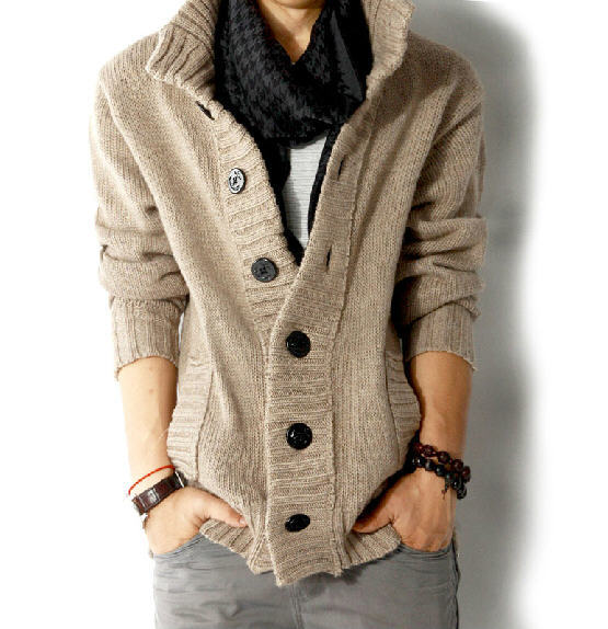 2017 New Autumn Winter Men's Casual Brand Sweaters Coat Clothing Solid Color Knitted Cardigan Jumpers Hombre High Quality A362