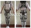 Ataque em Titã shingeki não Kyojin Recon Corps Harness Traje hookshot cinto Cintos Ajustáveis cintos de cosplay frete grátis
