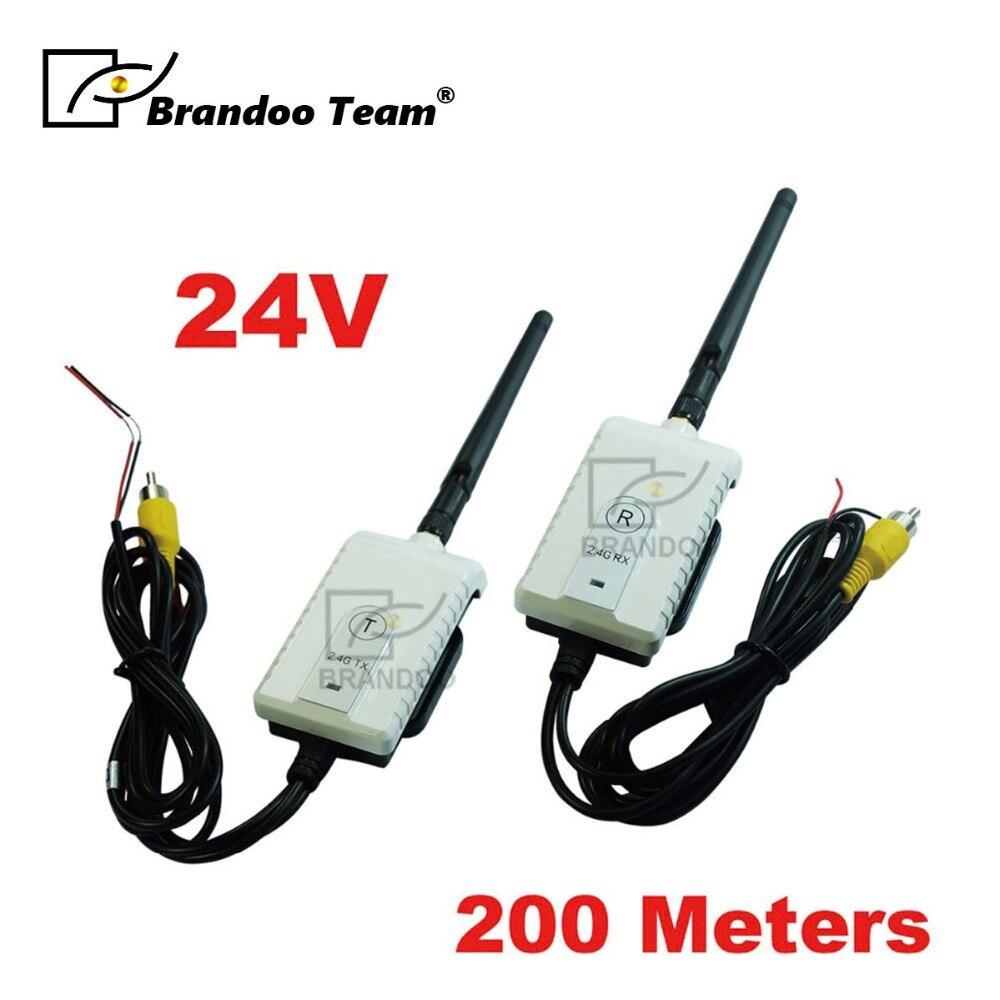Автомобильный 2,4G беспроводной кабель передатчик и приемник для автобуса автомобиля видео монитор грузовик заднего вида камера 200 м Диапазо