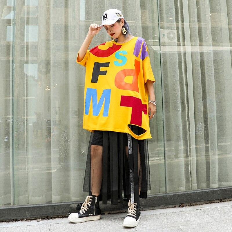 Top fashion streetwear Women Stylish Loose Printed Shirt Dress Harajuku Design Casual kawaii Dress plus size