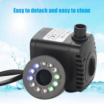 220V-240V Ultra-Quiet Submersible Water Pump with LED Light Fish Pond Aquarium Tank Fountain Water Submersible Pump dc 12v submersible water pump aquarium fish tank fountain pond water pump