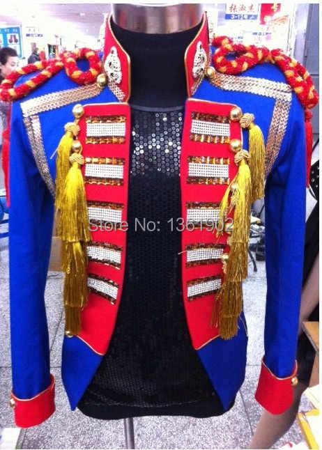 Плюс производительность верхняя одежда индивидуальный заказ Корея Epaulet мужчин ds диджей певец клубный пиджак для танцора костюм шоу куртка со стразами наряд