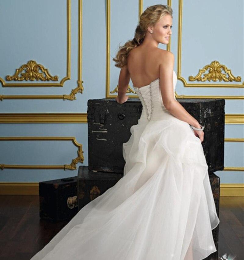 Elegant Designer Simple Bridal Gown Classic High Low Wedding Dresses ...