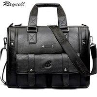 Brand Man Bag Leather Black Briefcase Men Business Handbag Messenger Bags Male Vintage Men S Shoulder