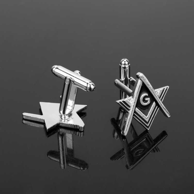 Dongsheng masonic abotoaduras preto maçon maçonaria manga botões maçons homens manguito link pinos jóias acessórios de moda-40