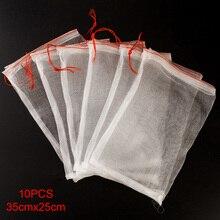 10 шт./компл. супермаркет кулиской многоразовые защиты мешок для семян замачивания прорастания сетчатые мешки для фруктов овощи нейлон