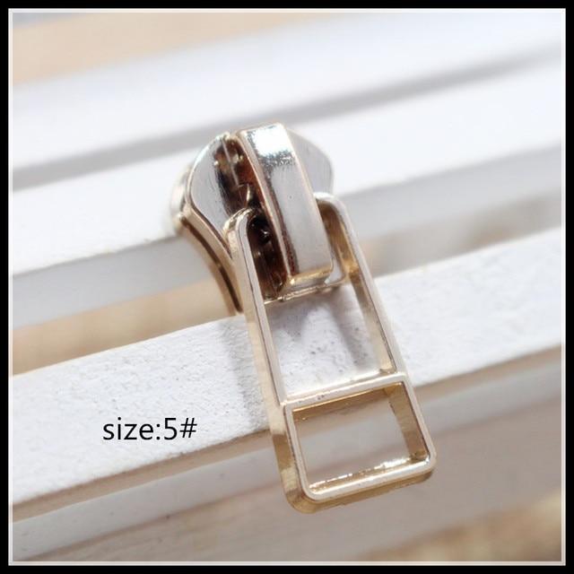 5 Wholesale 10pcs Zipper Sliders Golden Metal Zipper Pulls Zipper
