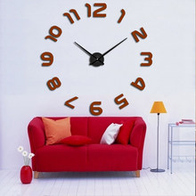 Muhsein 2019 New Arrival Clocks Real Big Wall Clock Rushed Mirror Sticker Living Room Decor Free Shipping Fashion Watches(China)