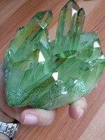 445g Aura Verde Claro de Cristal de Cuarzo Titanio Bismuto Silicio Grupo Arco Iris Piedras Naturales y Minerales