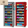 Shoe Cabinet Rack Organizer Armarios Kast Zapatero Fabric Modern Living Room Furniture Assembly Nine Drawers Shoes TOIN XG002