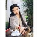 Mãe e filha pai-filho de grau superior as mulheres blusa de linho puro Han Chinês Vestuário tops camisa blusa