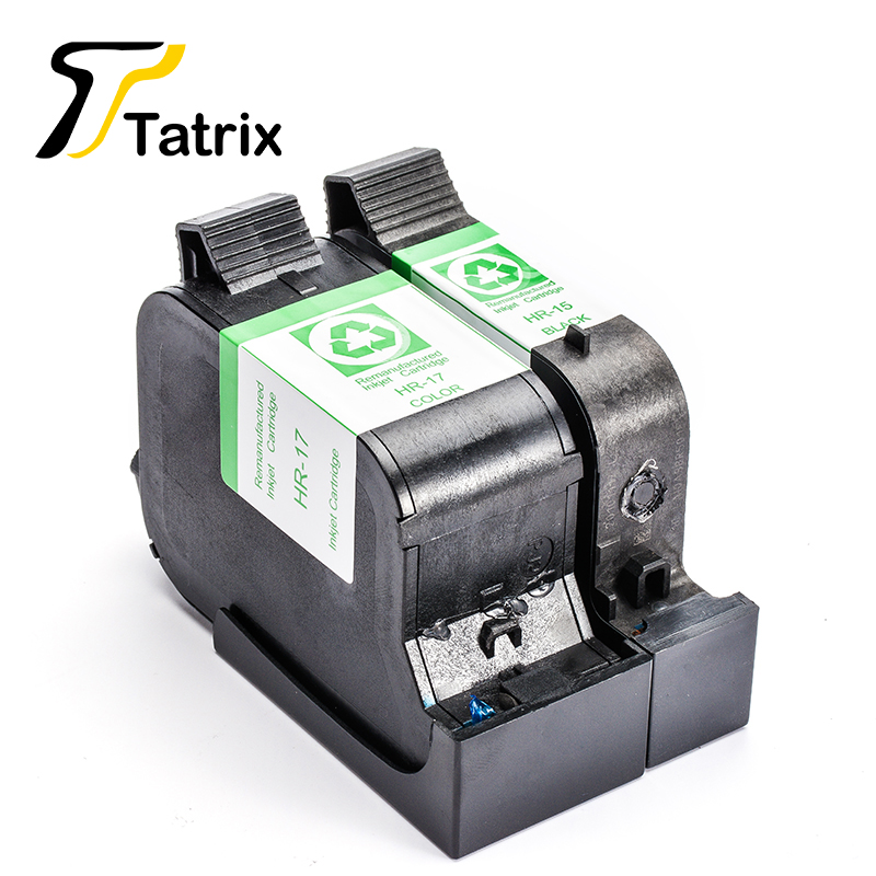 For HP15 HP17 2PK Remanufactured Ink Cartridge BK/Color With Chip For HP DeskJet 720/810C/812C/815C/825C/825cvr/840C/841C 2pk for hp 61xl remanufactured ink cartridge bk
