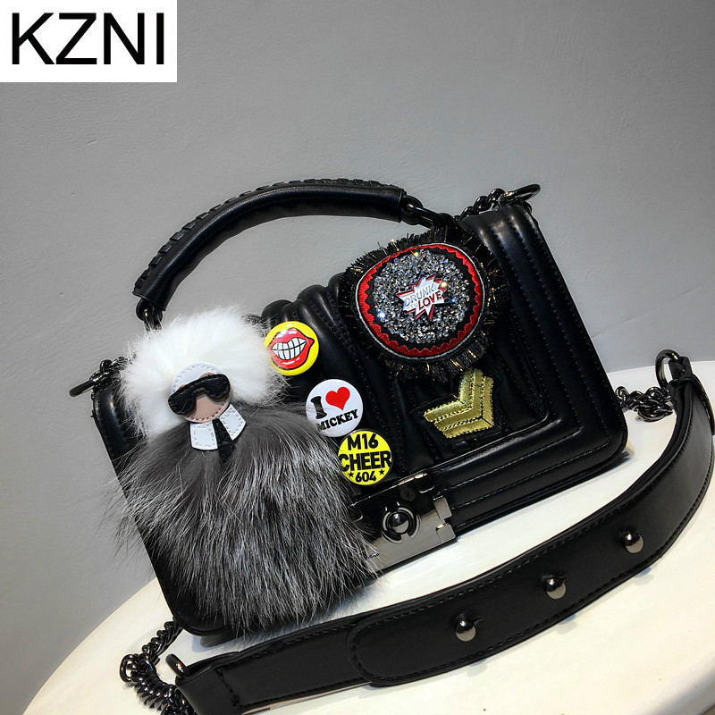KZNI Genuine Leather Purse Crossbody Shoulder Women Bag Clutch Female Handbags Sac a Main Femme De Marque L110612
