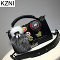 KZNI bag Genuine leather bag crossbody bags for women students good quality sac a main femme de marque bolsas femininas L110612