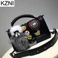 Kzni bolso genuino bolso de cuero crossbody bolsas para mujeres estudiantes buena calidad femme sac a principal de marca bolsas femininas L110612
