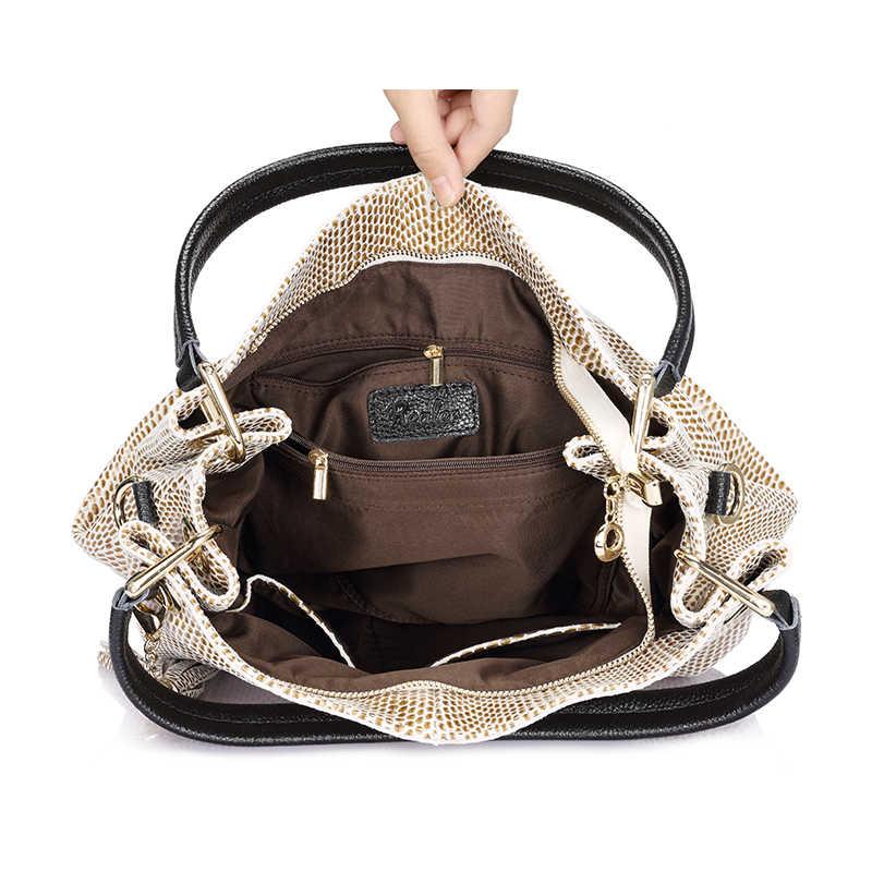 Realer kadın çanta hakiki deri çanta kadın hobos omuz crossbody çanta yüksek kalite deri tote kadınlar askılı çanta