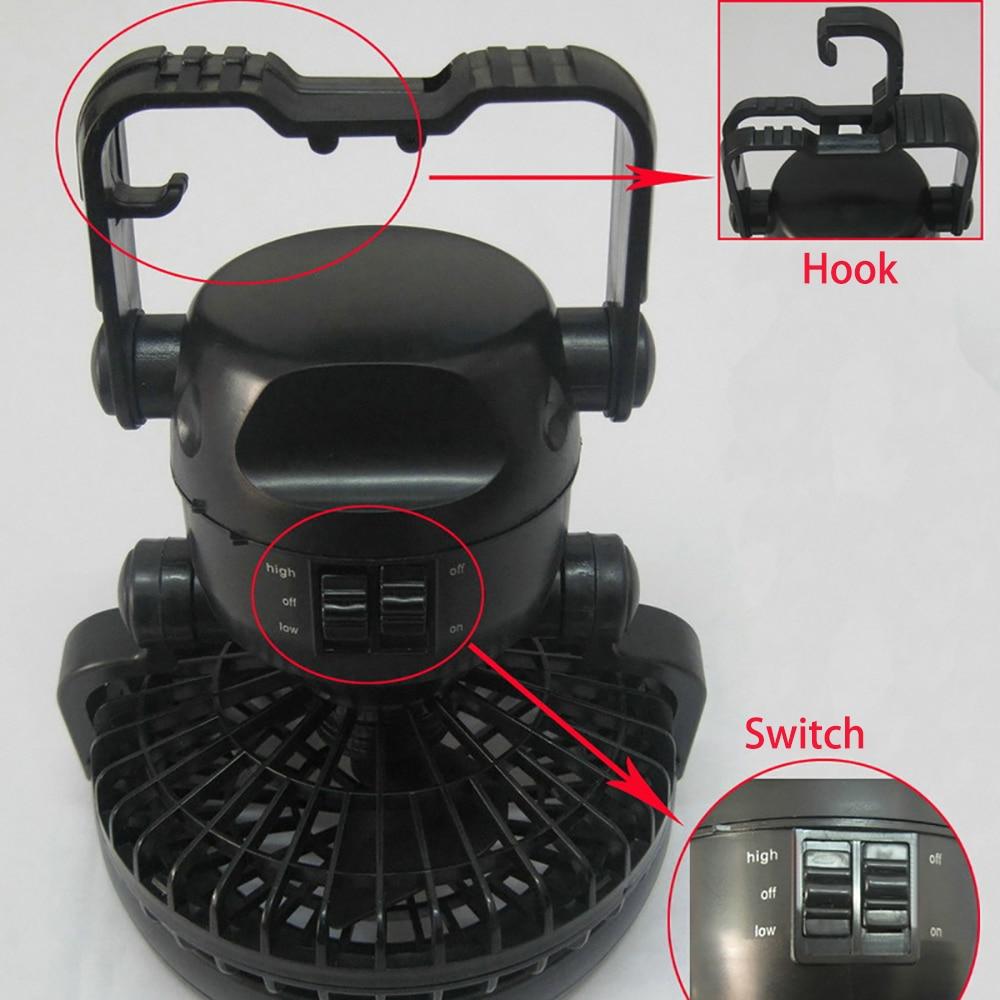 Portable LED camping lantern fan 2