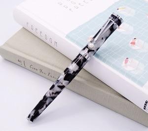 Image 2 - Fuliwen Celluloid Rollerball עט עם מילוי, עלה אדר שחור לבן אופנה כתיבה עט עסקי משרד בית ספר