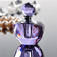 Vintage Mini Crystal Glass Purple Crystal Perfume Bottle Empty Refillable Container Travel Perfume Cosmetic Bottle Wedding