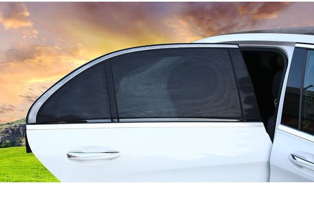 DropShipping 2Pcs Car Sun Shade UV Protection Car Curtain Car Window Sunshade Side Window Mesh Sun Visor 2