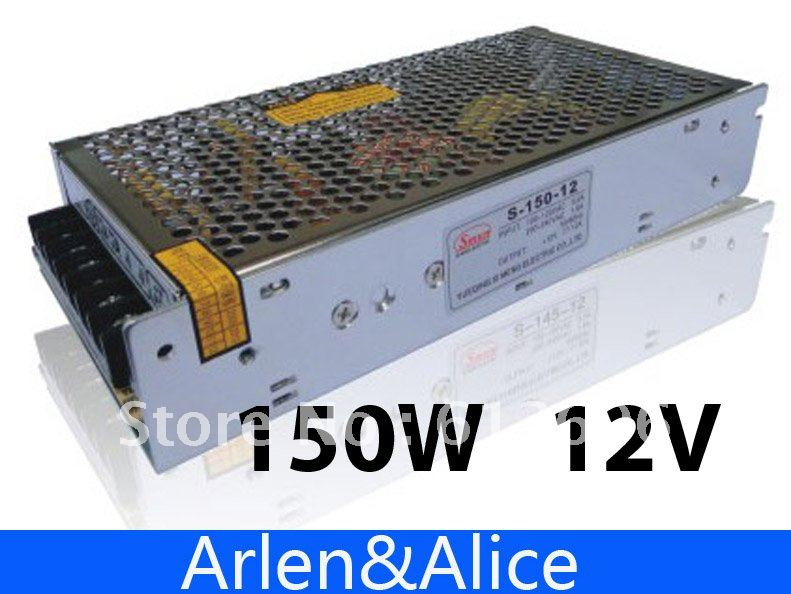 150W 12V 12.5A Single Output Switching power supply for LED Strip light AC to DC best quality 12v 15a 180w switching power supply driver for led strip ac 100 240v input to dc 12v