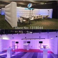 Бесплатная доставка форму куба красочные надувные led стены для выставочных мероприятий показывает