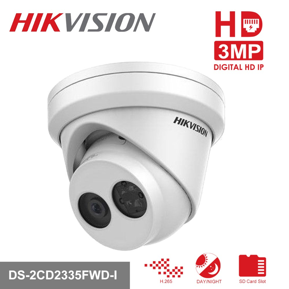 все цены на HIKVISION H.265 PoE IP Camera DS-2CD2335FWD-I 3MP Ultra-Low light Network Turret CCTV Camera IR IP Camera with Night Version онлайн