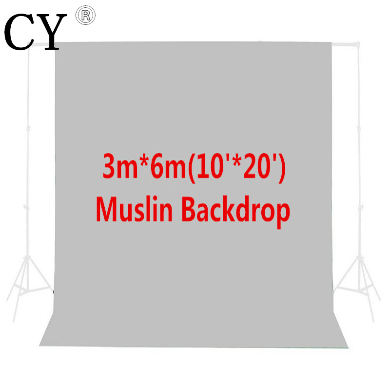 Photo Studio 10ft x 20ft/3m x 6m Gray Photo Studio Solid Muslin Background Backdrop PSB5B Hot Sales
