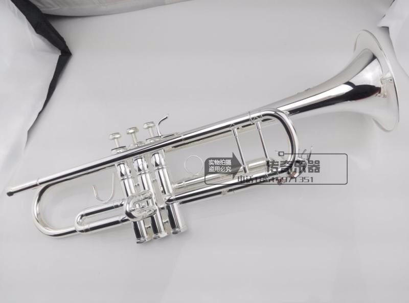 Trumpet Senior Bach Silver Plated High-quality Trumpet LT180S-43 Small Brass Musical Instrument Trompeta Professional High Grade free shipping the trumpet vincent bach lt 180s 37 baja baja silver trumpet musical instrument playing the trumpet