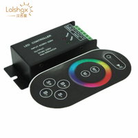 AC110V 220V led RGB controller 3ch dimmer with RF touch switch remote control for 3528 5050 rgb led strip light tape ribbon