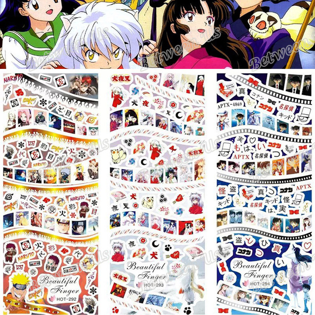 Hot Sale DIY Water Transfer Decals Nail Art Stickers Naruto Inuyasha ...