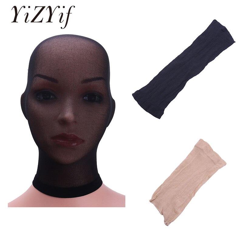 YiZYiF Unisex Stockings Headgear Sexy Lingerie Masks Sheer Headwear Bondage Costume Gay Stockings Headgear For Role Play Masks