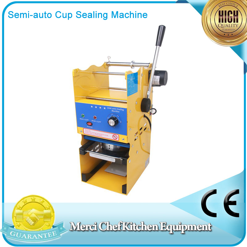 Bubble Tea Cup Sealing Tea or Drink Machine 220V Semi-auto Cup Sealing Machine For Food And Drink Package Cup Sealer new bubble tea cup sealing machine fully automatic stainless steel plastic bubble tea sealing machine cup sealer cup
