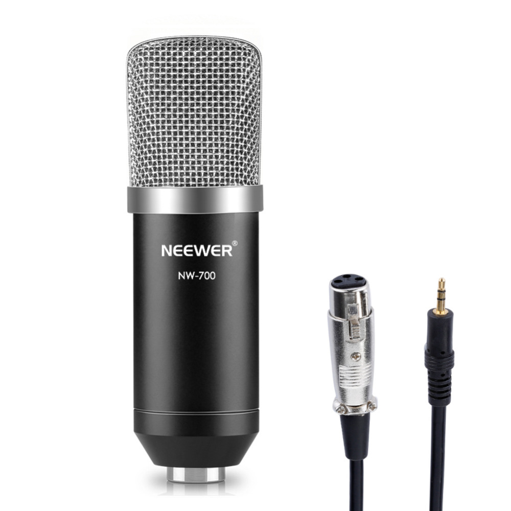 Neewer NW-700 Professional Studio Broadcasting & Recording Condenser Microphone Set Microphone Audio Cable Condenser Microphone eleoption 2pcs 18v 4000mah li ion rechargeable power tool battery for hitachi bsl1830 bsl1840 330067