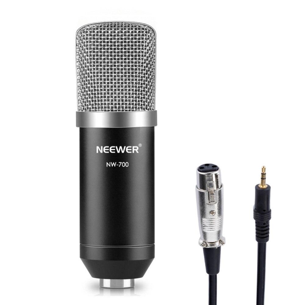 Nuevo NW-700 estudio profesional de radiodifusión y grabación micrófono de condensador de micrófono Cable de Audio micrófono de condensador
