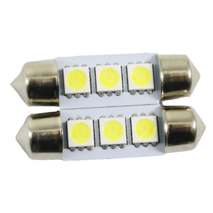 2x LED festoon light 3SMD 5050 6000k white interior bulb reverse dome parking reading lamp auto light source led lamp for car