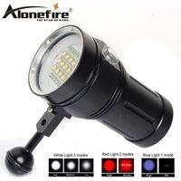 AloneFire DV49 Professional Diving Light Underwater 80m Scuba Video Light 15 XM L2 LED Photography Video Dive Flashlight Lamp