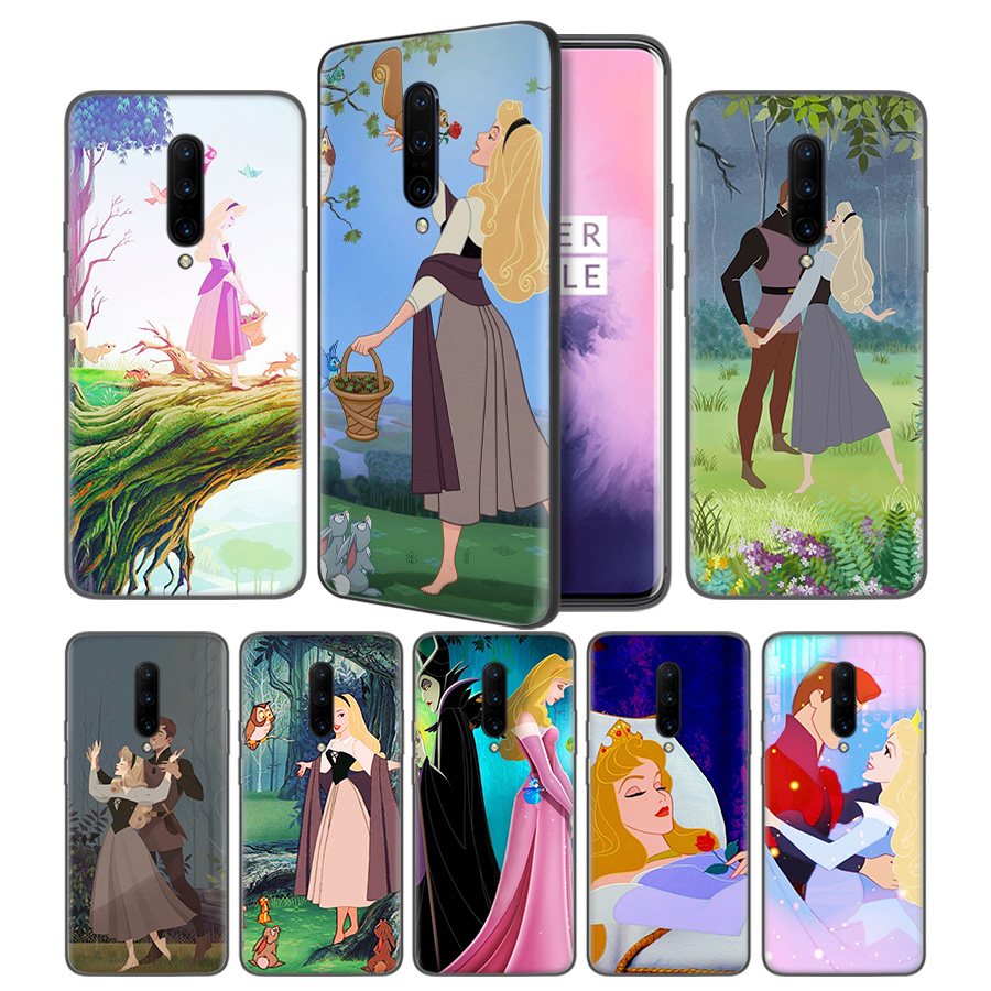 Sleeping Beauty Soft Black Silicone Case Cover for font b OnePlus b font 6 6T font