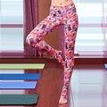 Nós só vendemos alta qualidade Italiana impressão Mulheres Fantasma Roupas Calças Slim Leggings passo pé calças de Fitness