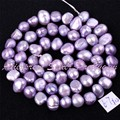 """Free Shipping 5-7mm Natural Freeform Purple Freshwater Pearl Gem Stone For DIY Necklace Bracelat Jewelry Making Spacer Beads 14"""""""